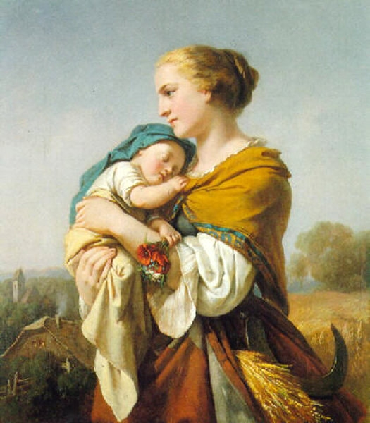 The Harvesters by Carl Adolf Gugel