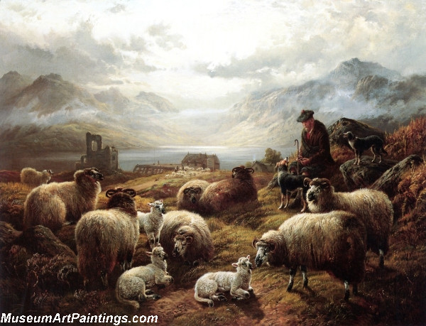 The Highland Shepherd Painting