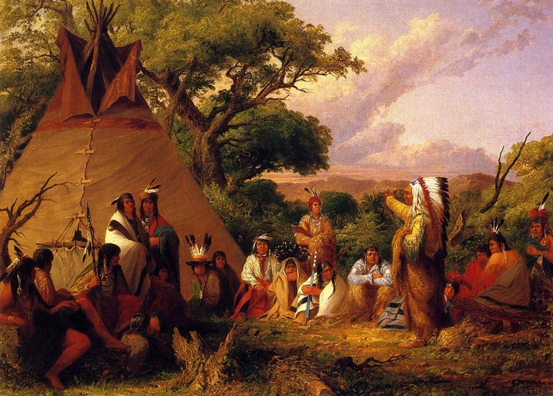 The Indian Council by Seth Eastman
