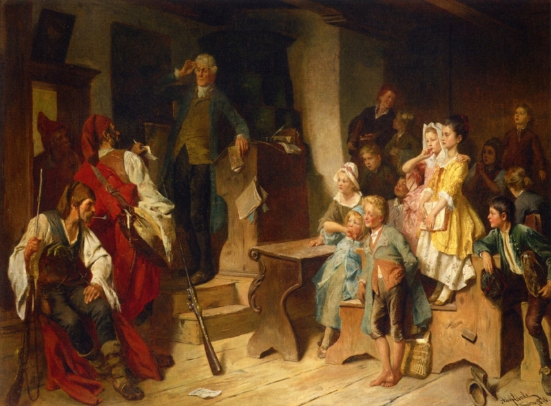 The Interrupted Lesson by Adolf Eberle
