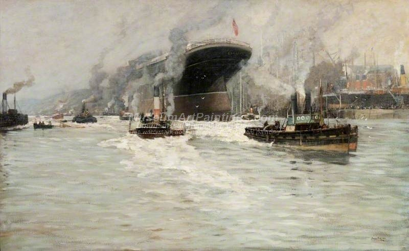 The Launch of the Lusitania by James Kay