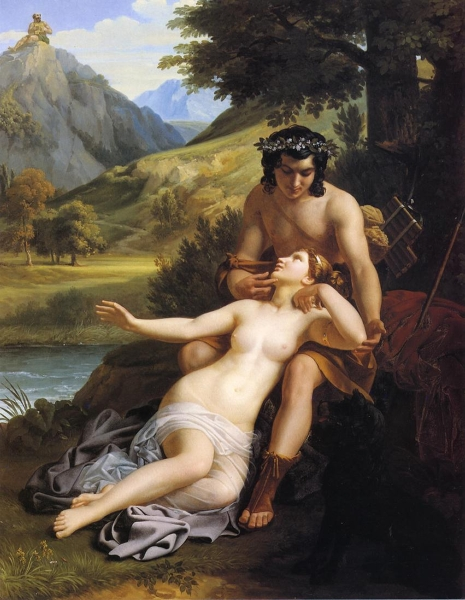 The Loves of Acis and Galatea by Alexandre Charles Guillemot