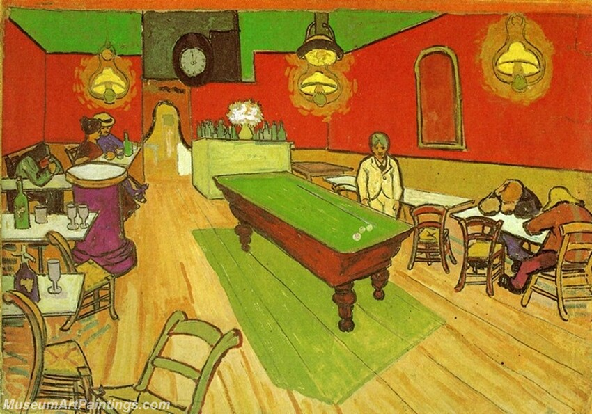 The Night Cafe in Arles Painting