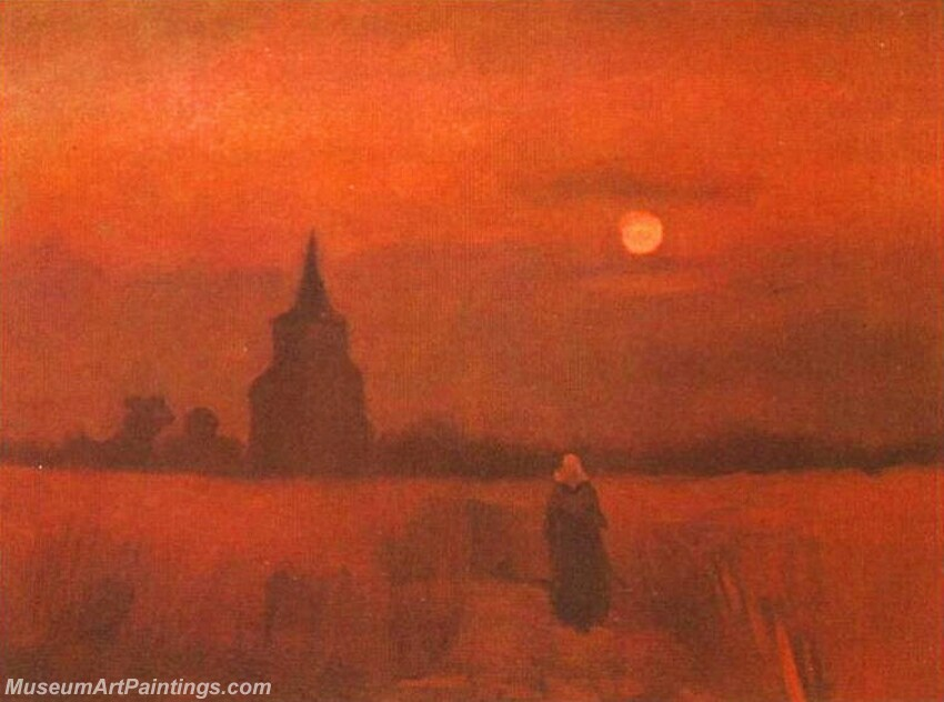 The Old Tower in the Fields Painting