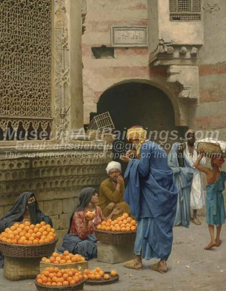 The Orange Seller Cairo by Ludwig Deutsch