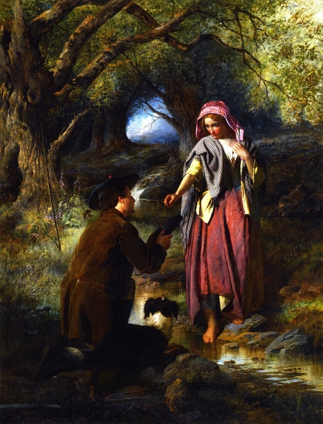 The Parting of Burns and His Highland Mary by Thomas