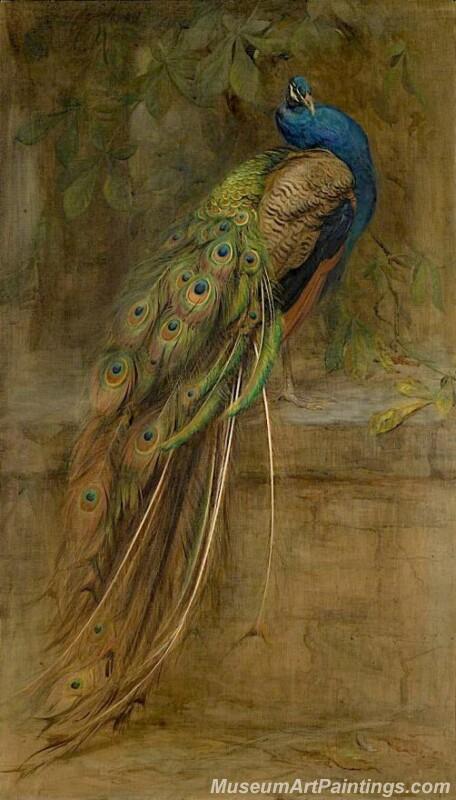 The Peacock Edwin John Alexander oil painting