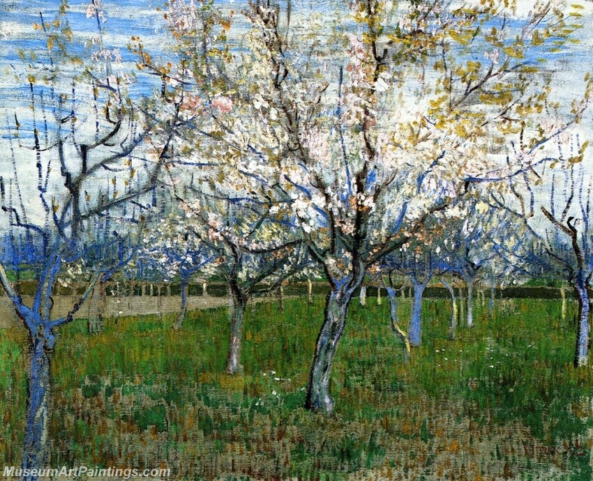 The Pink Orchard Painting
