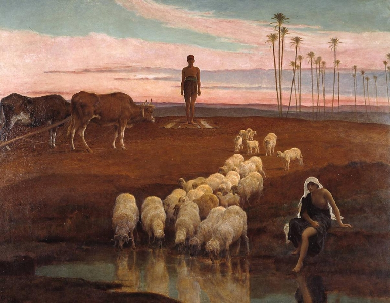 The Ploughman and the Shepherdess Time of the Evening Prayer by Frederick Goodall