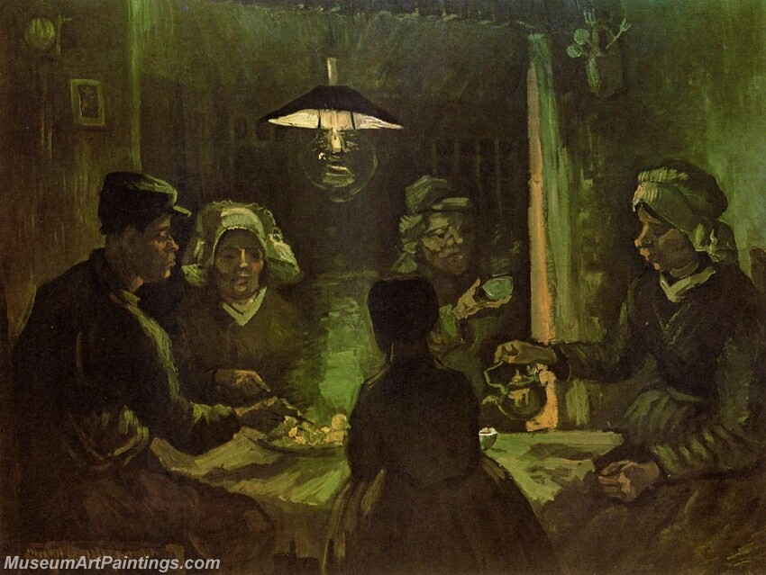 The Potato Eaters Painting