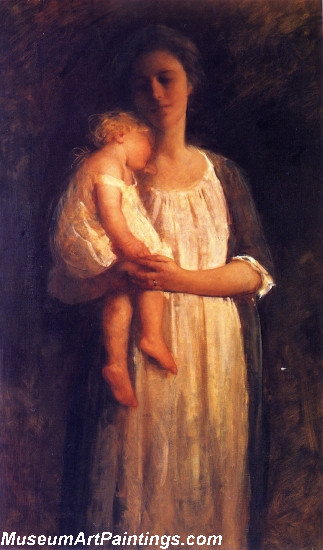 The Sleeping Child Painting