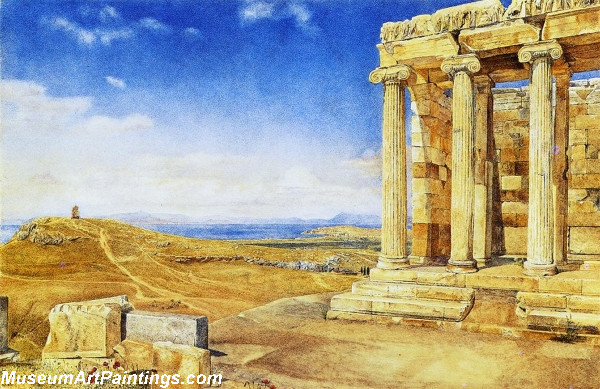The Temple of Athena Nike on nthe Acropolis by Henry Roderick Newman
