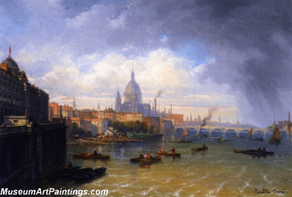 The Thames with Somerset House and St Pauls Cathedral