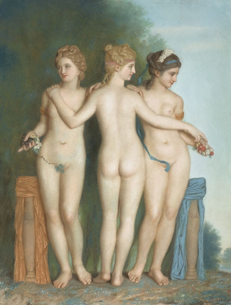 The Three Graces by Jean Etienne Liotard