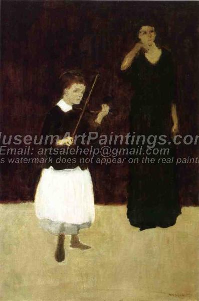 The Violin Lesson Arthur B Davies