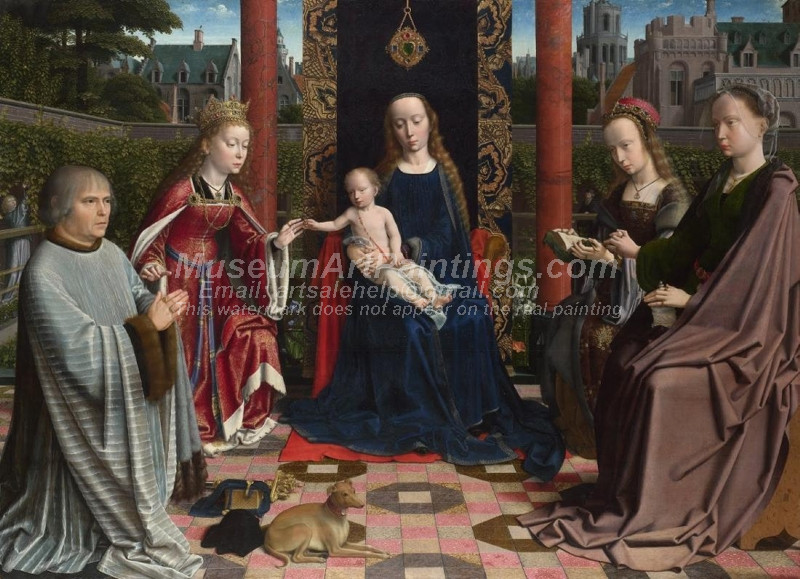 The Virgin and Child with Saints and Donor by Gheeraert David