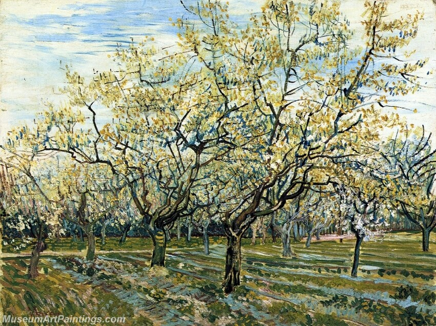 The White Orchard Painting