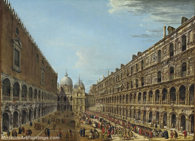 The departure of the nuncio Stoppani from the Doges Palace after his audience Painting
