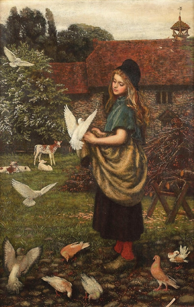 The pet of the farm by Arthur Hughes