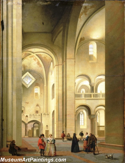 The transept of St Marys Church in Utrecht seen from the northeast Painting