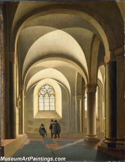 The western bays of the southern nave of St Marys Church in Utrecht Painting