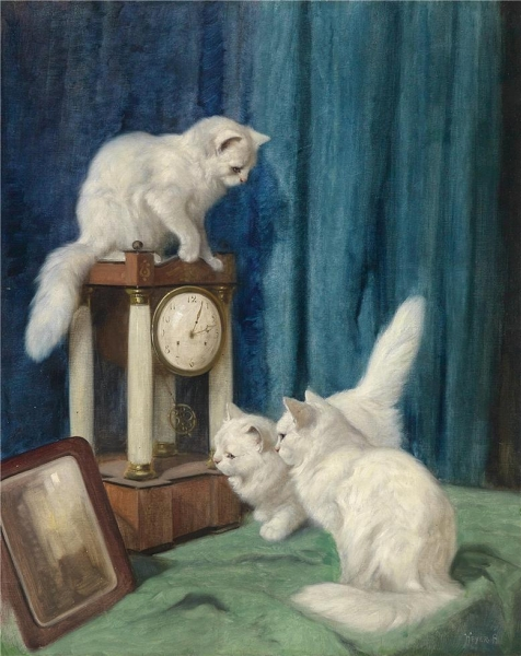 Three Curious Cats by Arthur Heyer