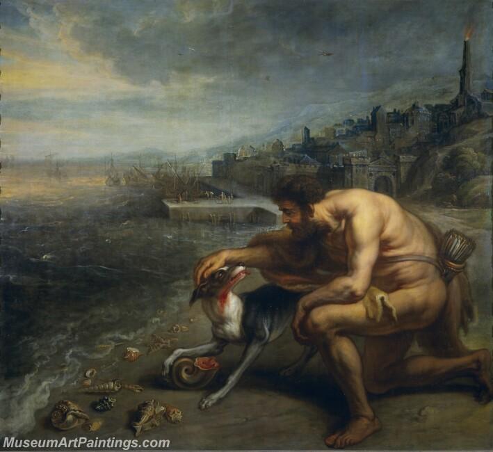 Thulden Theodoor van El descubrimiento de la purpura Painting