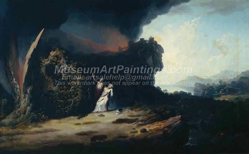 Thunderstorm with the Death of Amelia Painting by William Williams
