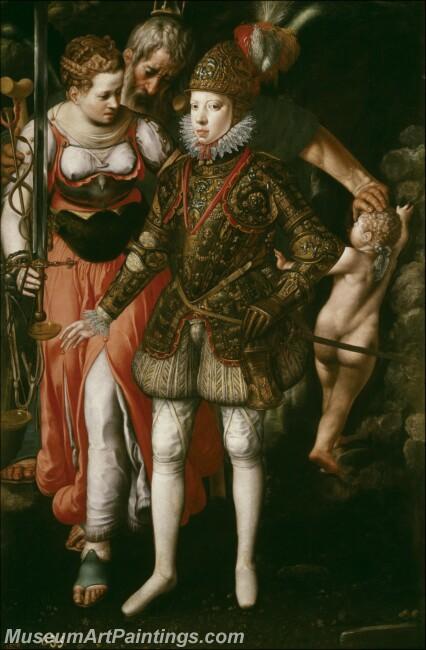 Tiel Justus Alegoria de la educacion de Felipe III Painting