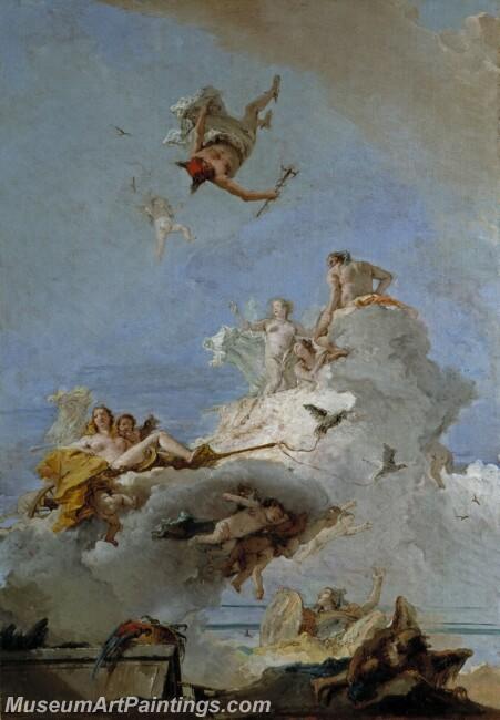 Tiepolo Giambattista El Olimpo o Triunfo de Venus Painting