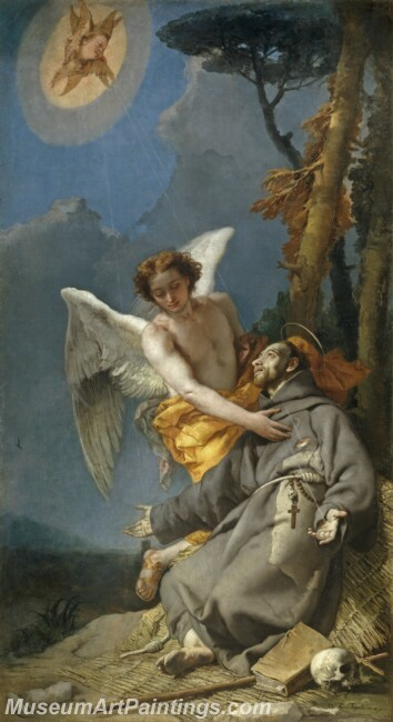 Tiepolo Giambattista Estigmatizacion de San Francisco Painting