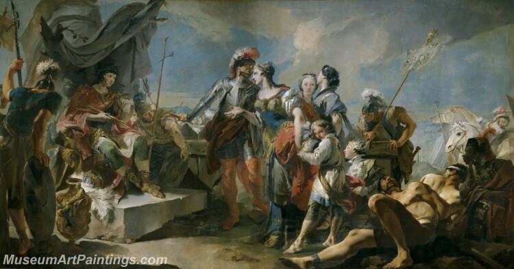 Tiepolo Giambattista La reina Zenobia ante el emperador Aureliano Painting