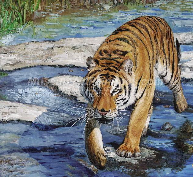 Tiger Oil Paintings 006