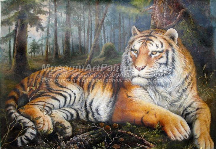 Tiger Oil Paintings 007