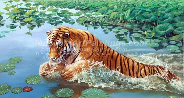 Tiger Oil Paintings 008