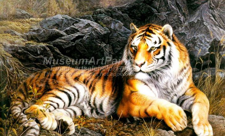 Tiger Oil Paintings 010