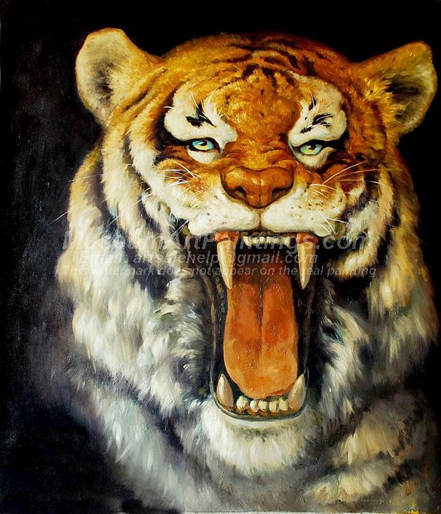 Tiger Oil Paintings 013