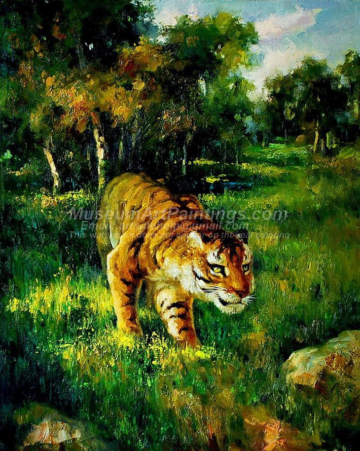 Tiger Oil Paintings 014
