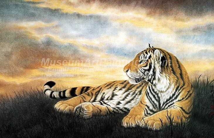 Tiger Oil Paintings 022
