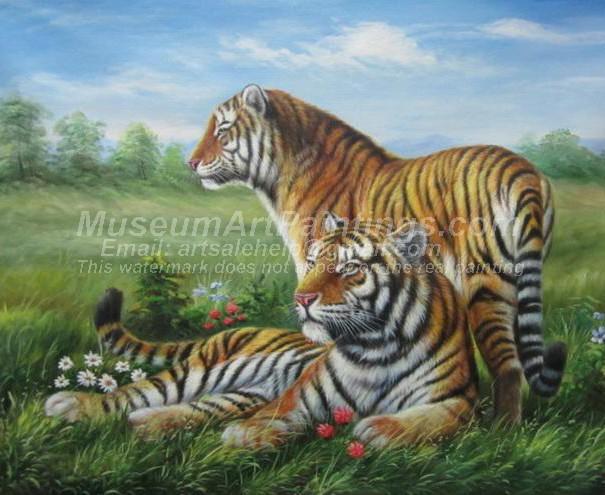 Tiger Oil Paintings 029