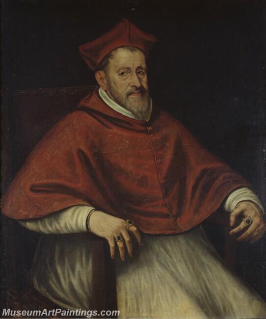 Tintoretto Jacopo Robusti Discipulo de El cardenal Andrea de Austria Painting