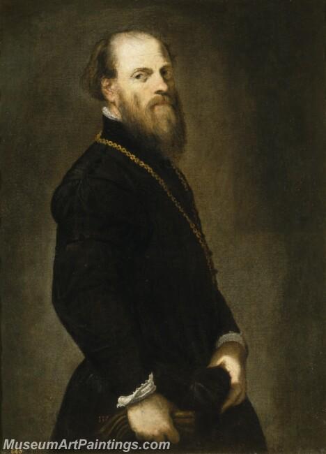 Tintoretto Jacopo Robusti El caballero de la cadena de oro Painting