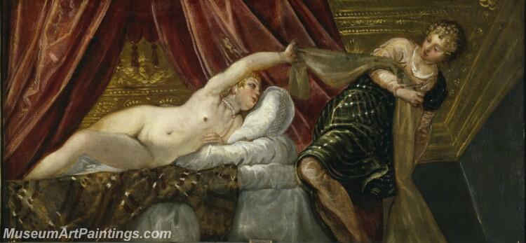 Tintoretto Jacopo Robusti Josey la mujer de Putifar Painting