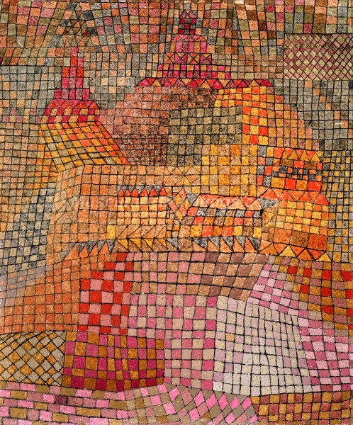 Town Castle Kr by Paul Klee