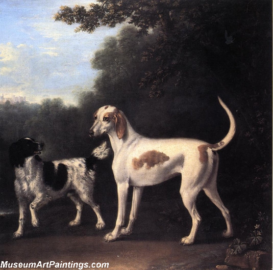 Two of the Duchess of Marlboroughs Dogs Painting