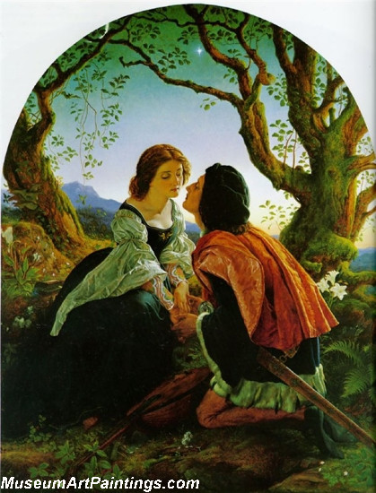 Valentines Day Painting Hesperus the Evening Star Sacred to Lovers