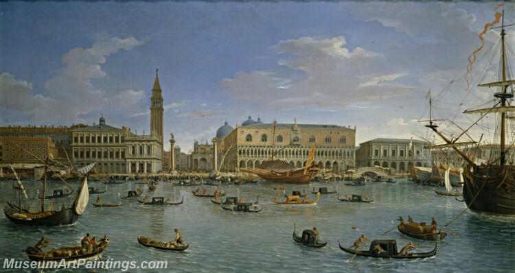 Vanvitelli Gaspare Vista de Venecia desde San Giorgio Painting