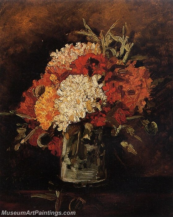 Vase with Carnations Painting