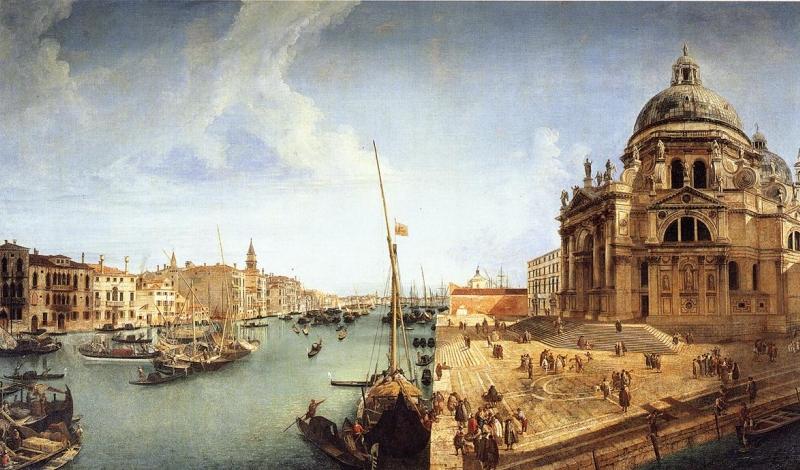 Veduta of the Basilica della Salute by Michele Giovanni Marieschi