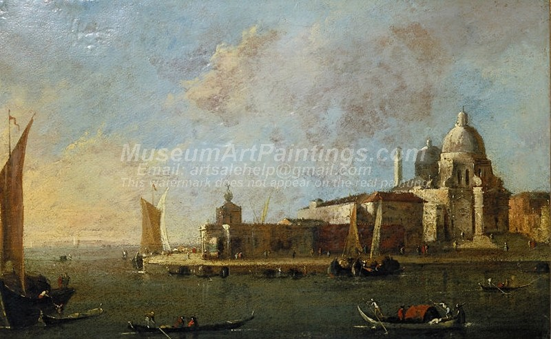 Venice Oil Paintings Venice View of Santa Maria delle Salute and the Dogana